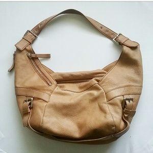 Kenneth Cole Leather Tan Brown Shoulder Bag Purse